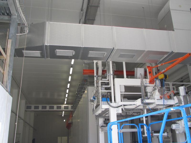Impianti di ventilazione settore industriale